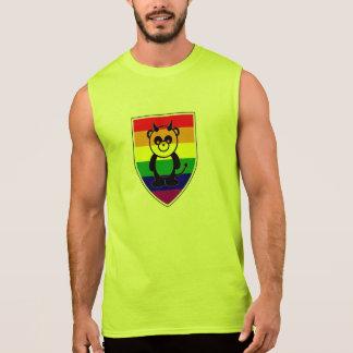 La panda gay magnífica refiere la bandera del arco camisetas sin mangas