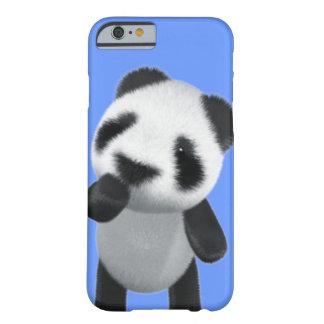 La panda linda 3d piensa (editable) funda de iPhone 6 barely there