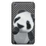 La panda linda 3d piensa (editable) Case-Mate iPod touch protectores