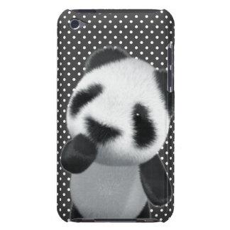 La panda linda 3d piensa editable Case-Mate iPod touch protectores