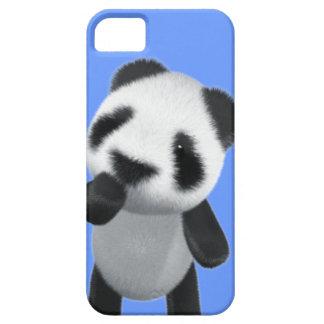 La panda linda 3d piensa (editable) iPhone 5 carcasa