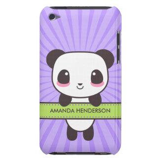 La panda linda de Kawaii personalizó la caja del Cubierta Para iPod De Barely There