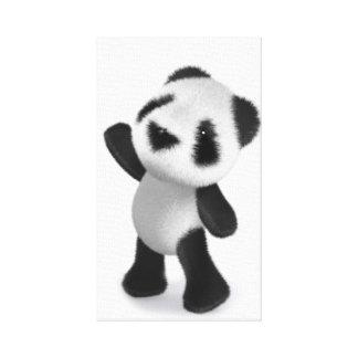¡la panda linda del bebé 3d alcanza para algunos d impresiones en lona