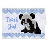 La panda pacificada le agradece cardar tarjeta de felicitación
