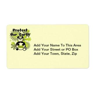 La panda protege nuestras camisetas y regalos de l etiquetas de envío