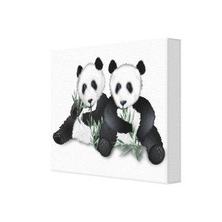 La panda refiere arte envuelto de la lona lona envuelta para galerías