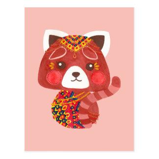 La panda roja linda tarjeta postal