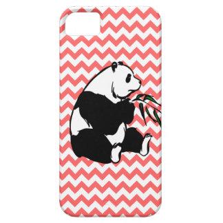 La panda y escoge su color Chevron iPhone 5 Protectores