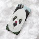 La panda y su caso del iPhone 6 del visitante