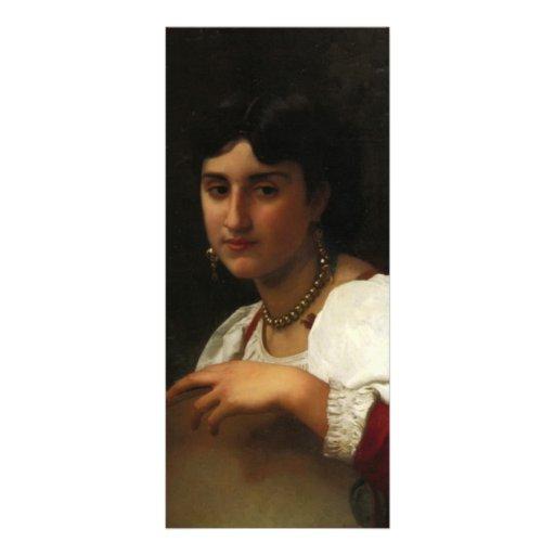 La pandereta italiana de Guillermo Bouguereau Lonas