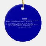 La pantalla azul del ordenador de la muerte adorno de navidad