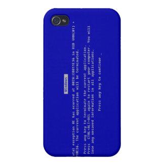 La pantalla azul del ordenador de la muerte iPhone 4/4S carcasas