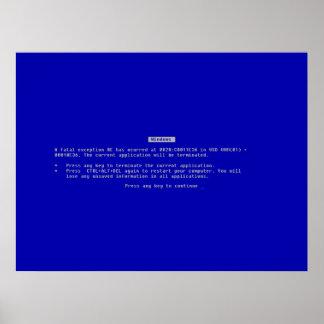 La pantalla azul del ordenador de la muerte impresiones