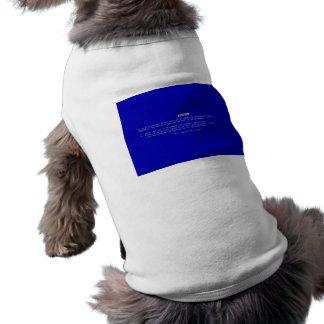 La pantalla azul del ordenador de la muerte camisetas mascota