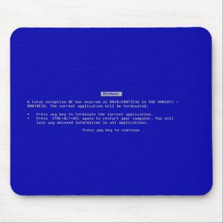 La pantalla azul del ordenador de la muerte alfombrillas de raton