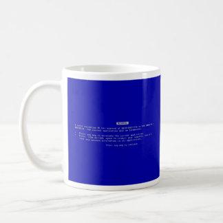 La pantalla azul del ordenador de la muerte taza de café