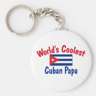 La papá cubana más fresca llavero redondo tipo pin
