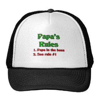 La papá es Boss Gorras