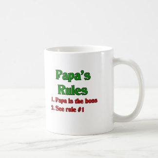 La papá es Boss Taza Básica Blanca