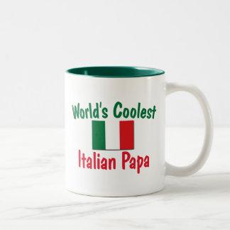 La papá italiana más fresca taza de dos tonos