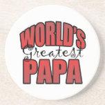 La papá más grande de los mundos posavasos personalizados