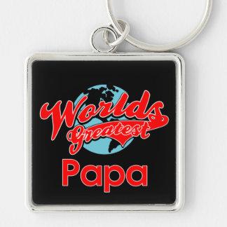La papá más grande del mundo llavero personalizado