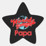 La papá más grande del mundo colcomanias forma de estrellaes