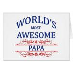 La papá más impresionante del mundo tarjetón