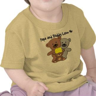 La papá y el papá me aman camisetas