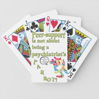 la Par-ayuda no es el loro de un psiquiatra Baraja Cartas De Poker