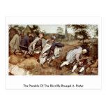La parábola de las persianas por Bruegel A. Pieter Postal