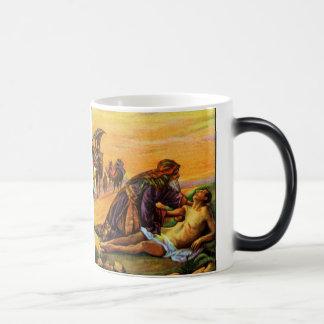La parábola del buen samaritano taza mágica