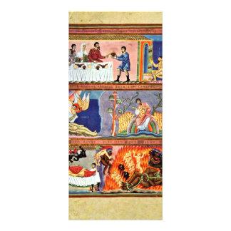 La parábola del folio del hombre rico y de Lazarus Diseños De Tarjetas Publicitarias