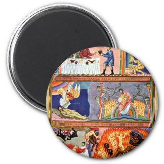 La parábola del folio del hombre rico y de Lazarus Imán Redondo 5 Cm