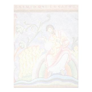 La parábola del folio del hombre rico y de Lazarus Membrete Personalizado