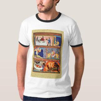 La parábola del folio del hombre rico y de Lazarus Playera