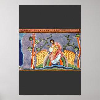 La parábola del folio del hombre rico y de Lazarus Póster