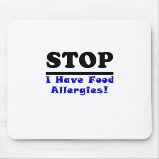 La parada I tiene alergias alimentarias Alfombrillas De Ratón