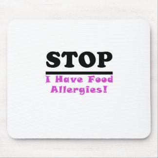 La parada I tiene alergias alimentarias Tapetes De Ratón
