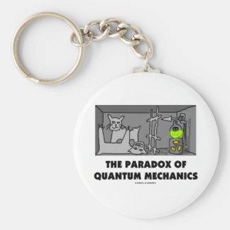 La paradoja de los mecánicos de Quantum (humor de  Llavero Redondo Tipo Pin