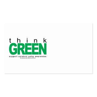 La parálisis cerebral PIENSA verde Plantillas De Tarjetas Personales