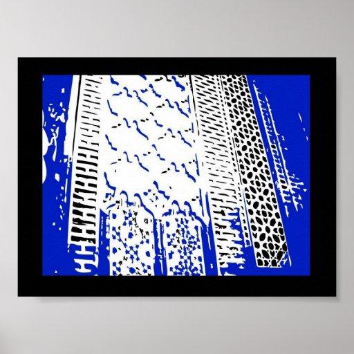 La pared azul árabe Halima Ahkdar 2005 Póster