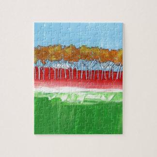 La pared de árboles puzzle