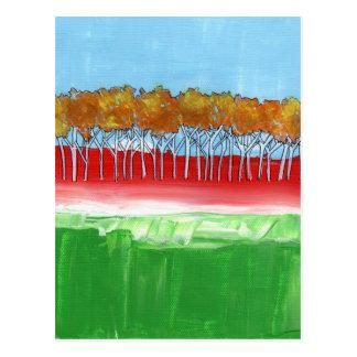 La pared de árboles tarjetas postales