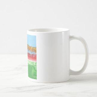 La pared de árboles taza de café