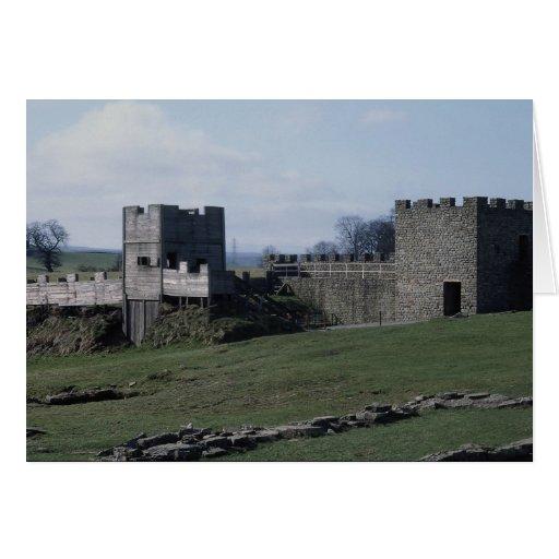 La pared de Hadrian, Vindolanda, Northumberland, R Tarjeta