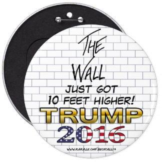 La pared del botón del triunfo 2016 pin redondo de 6 pulgadas