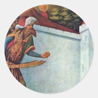 La pared del milagro de Meister Francke (la mejor Pegatina Redonda