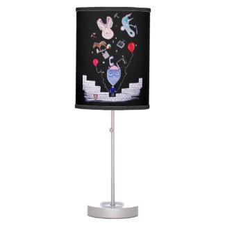 La pared del rosa lámpara de mesa