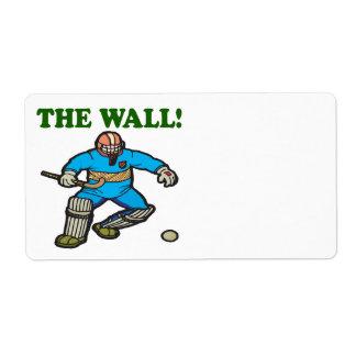 La pared etiqueta de envío